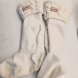 Cream Cable knit Hunter boot socks Size 8 to 10